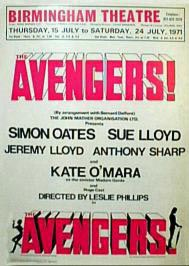 The Avengers Stage Play - Birmingham Theatre front of house poster