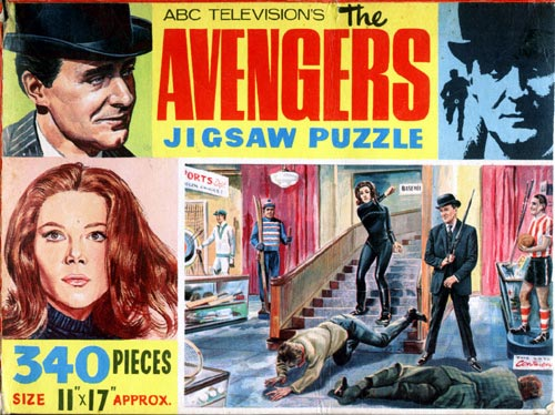 The Avengers - In The Basement jigsaw - Front of box