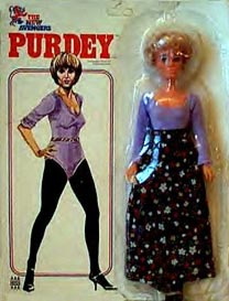 Purdey doll - carded (front)